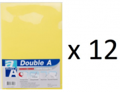 Double A - A4 L型膠快勞(單層)/黃色 x 12個
