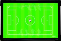 EASYMATE 30X45cm 雙面磁性作戰板-足球