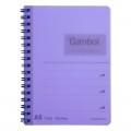 GAMBOL WCN-DS1055 A6 雙線圈透明PP面單行簿(50頁)