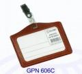 GLOBE GPN606C 仿皮吊夾證件牌 (橫)