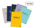 Double A - A5 Professional 雙線圈筆紀本 x 6本 (顏色隨機分配)