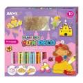 Amos Sun Deco (Princess) / 繪畫玻璃彩連掛飾膠牌, 小公主 10.5毫升 x 10色 (大盒套裝)