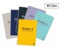 Double A - B5 Professional 雙線圈筆紀本 x 6本 (顏色隨機分配)