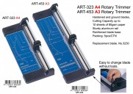 ARGO ART-323 A4 滾輪切紙刀(金屬底板)