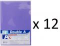 Double A - A4 L型膠快勞(單層)/紫色 x 12個