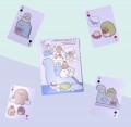 角落生物 (藍色恐龍) 卡通撲克啤牌