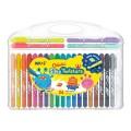 Amos 24色水溶臘筆 / Colorix? 旋轉3合1水彩粉彩蠟筆, 24色套裝