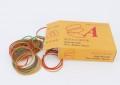 3A牌高级橡筋橙盒1盒 3A HIGH QUALITY PURE RUBBER BANDS ORANGE BOX