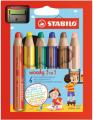 STABILO - 8806-2 Woody多用途3合一顏色筆-6色連專用筆刨1個