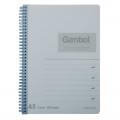 GAMBOL WCN-DS1488 A5 雙線圈透明PP面單行簿(80頁)