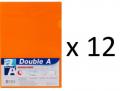 Double A - A4 L型膠快勞(單層)/橙色 x 12個
