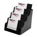 Deflecto 70404 黑色咭片座/名片座 (4格)