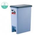 22升 長方腳踏垃圾桶(灰色)