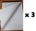 A4 雙面單行筆記簿 (100頁) x 3本