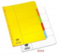 BANTEX 6045 A4 咭紙索引分類頁(5級)