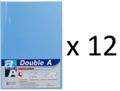 Double A - A4 L型膠快勞(單層)/淺藍色 x 12個