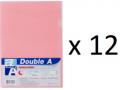 Double A - A4 L型膠快勞(單層)/粉紅色 x 12個