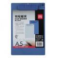 DELI 9254 A5 實色膠單板夾(可夾筆)