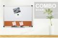 COMIX BM4560L 鋁邊磁性白板<3/4>+水松兩用板<1/4>(45 x 60cm)