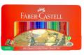 Classic Col. Pencil 60Tin Case (Jousting Knight Design) / 德國FABER經典油性彩色木顏色鉛筆 60色 (鐡盒裝) #115893