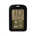 DELI 5943 PVC 仿皮直身證件牌(黑色/啡色) ** 原盒特價 **