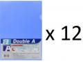 Double A - A4 L型膠快勞(單層)/粉藍色 x 12個