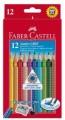FABER-CASTELL輝栢嘉 - #110912 JUMBO水彩三角色鉛筆12色+鉛筆刨