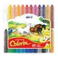 Amos 24色臘筆彩(膠盒)