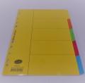 Bantex A4-5格紙質分類索引 6045 x2包 Bantex 6045-00 A4/5 PAPER TAP DIVIDER x2Pack