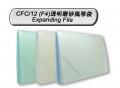 DATA BANK CFC/12 12格F4透明磨砂風琴袋