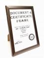 2001 仿木證書框(A4) 銀灰色