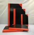 Enrola EN1110 紅黑面硬皮簿-100頁(8.5