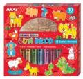 Amos Sun Deco 12 Animals / 韓國 AMOS 繪畫玻璃彩連掛飾膠牌, 12生肖