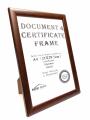 90523 啡色木證書框(A4)