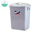 42升 長方垃圾桶連蓋(灰色)