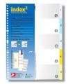 DATA BANK VID-05 29孔 彩色透明分類索引 1-5
