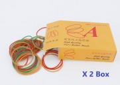 3A牌高级橡筋橙盒2盒 3A HIGH QUALITY PURE RUBBER BANDS ORANGE BOX x2