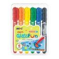 Amos 6色玻璃蠟筆 (合裝)